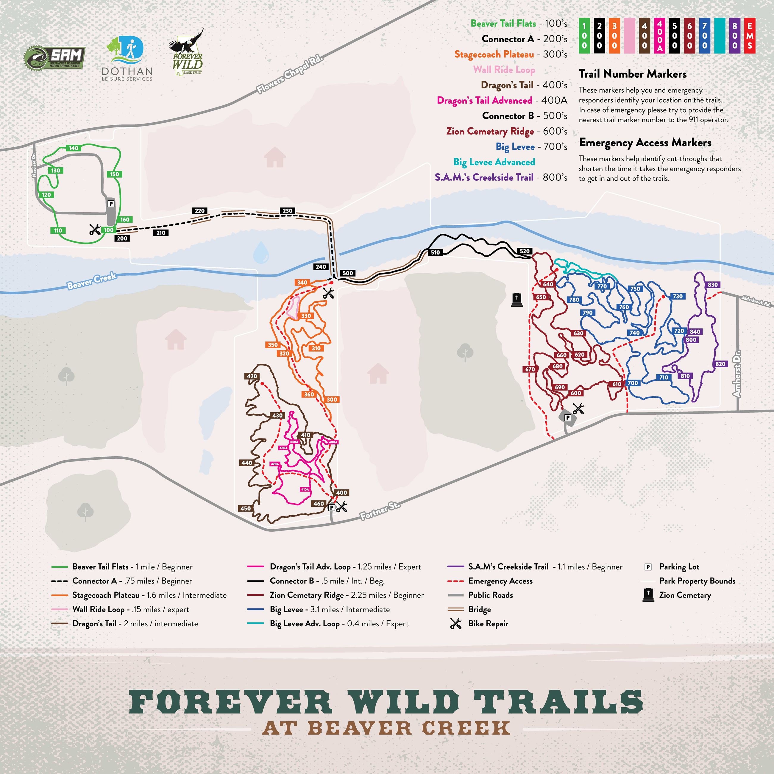 Forever Wild Trails Map (PDF) Opens in new window