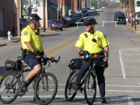 Two bike unit officers