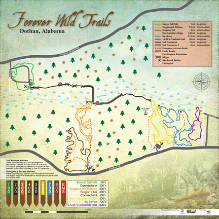 Forever Wild Trails Map